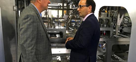El director del Instituto de Fomento de Murcia visita Gémina como empresa líder en el sector de la tecnología para la industria alimentaria