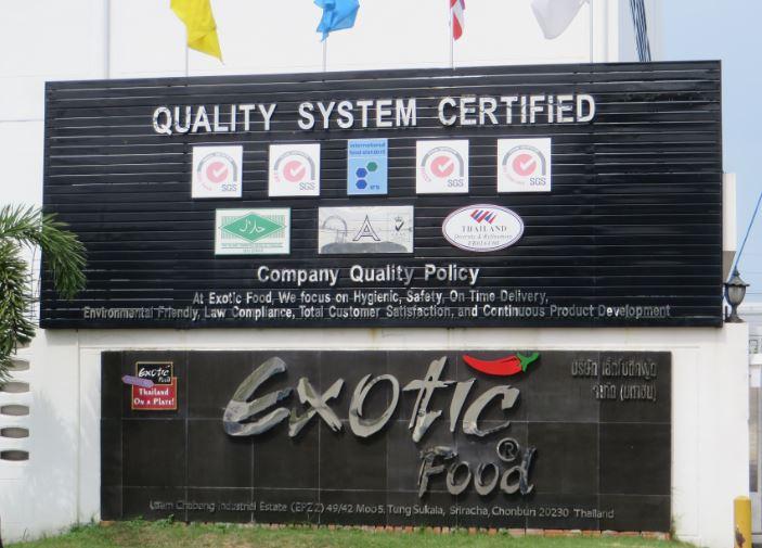 Gémina selccionada por Exotic Food (Tailandia) para el desarrollo e instalación de su nueva planta de producción