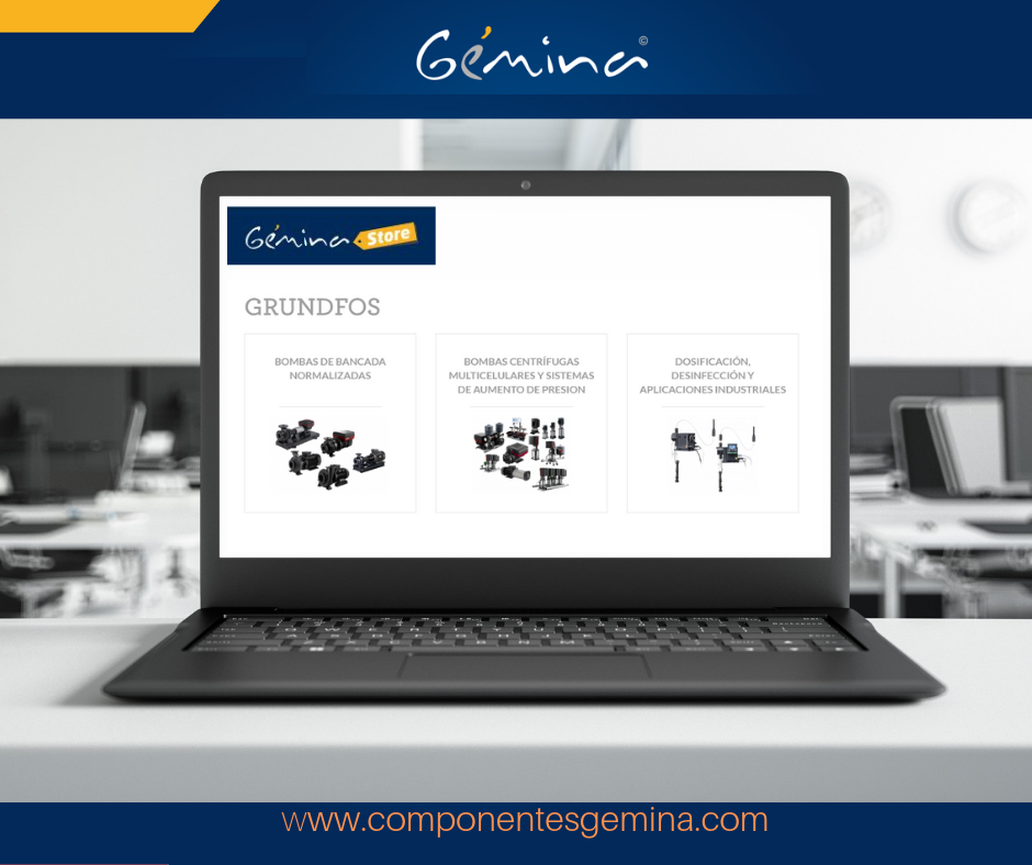 El catálogo de GRUNDFOS ya disponible en GÉMINA STORE